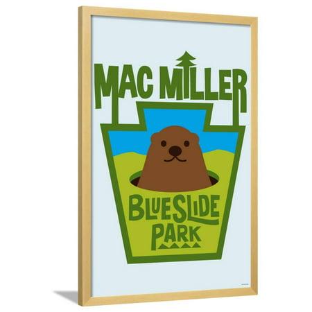 Mac Miller - Blueslide Park Framed Poster Wall (Miller Park Framed)