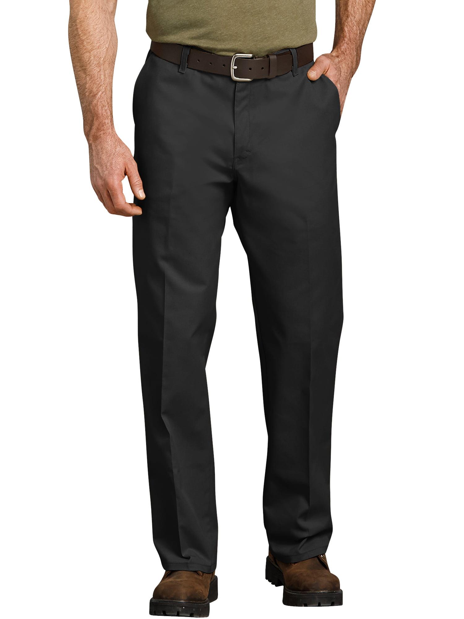 Men's Relaxed Fit Straight Leg Flat Front Flex Pant