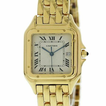 Cartier Panthere De Cartier W25014B9 Gold Women Watch (Certified Authentic & Warranty)