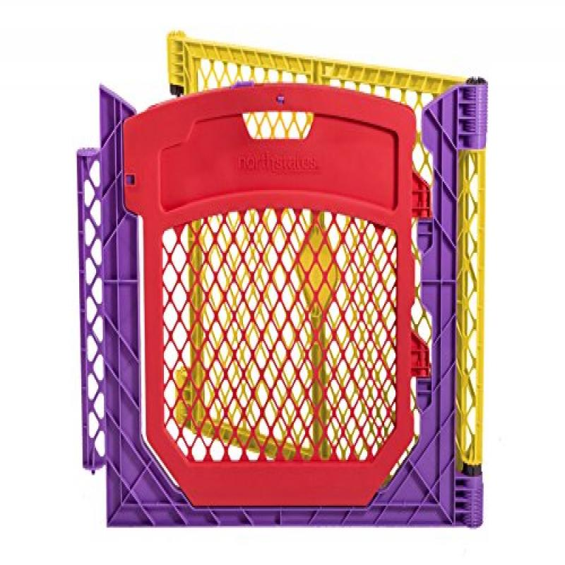 North States Industries Superyard Colored Play Door with 2 Panel Extension