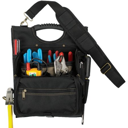 CLC Custom Leather Craft Electrician's Tool Pouches, 21 Compartment, Polyester