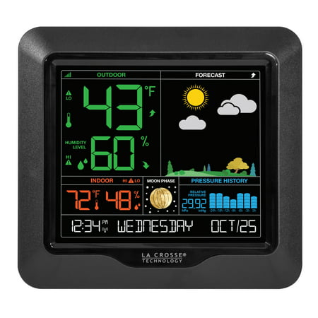 La Crosse Technology S84107 Wireless Color Forecast Station with Barometric Pressure Historical Graph ()