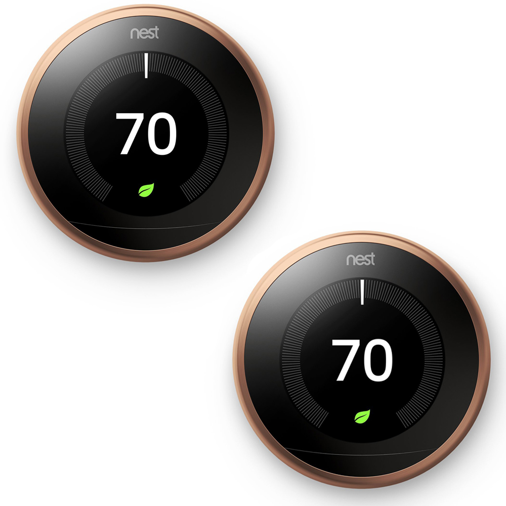 Nest Learning Thermostat 3rd Gen Copper 2 Pack (T3021US)