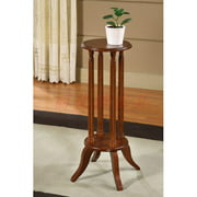 All Things Cedar Flower Plant Stand in Cherry Finish