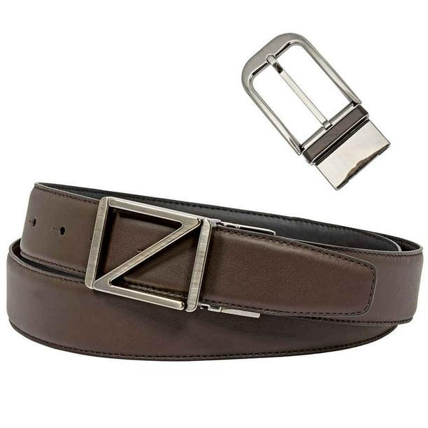 Zegna Ermenegildo Zegna Xxl Black Brown Reversible Belt