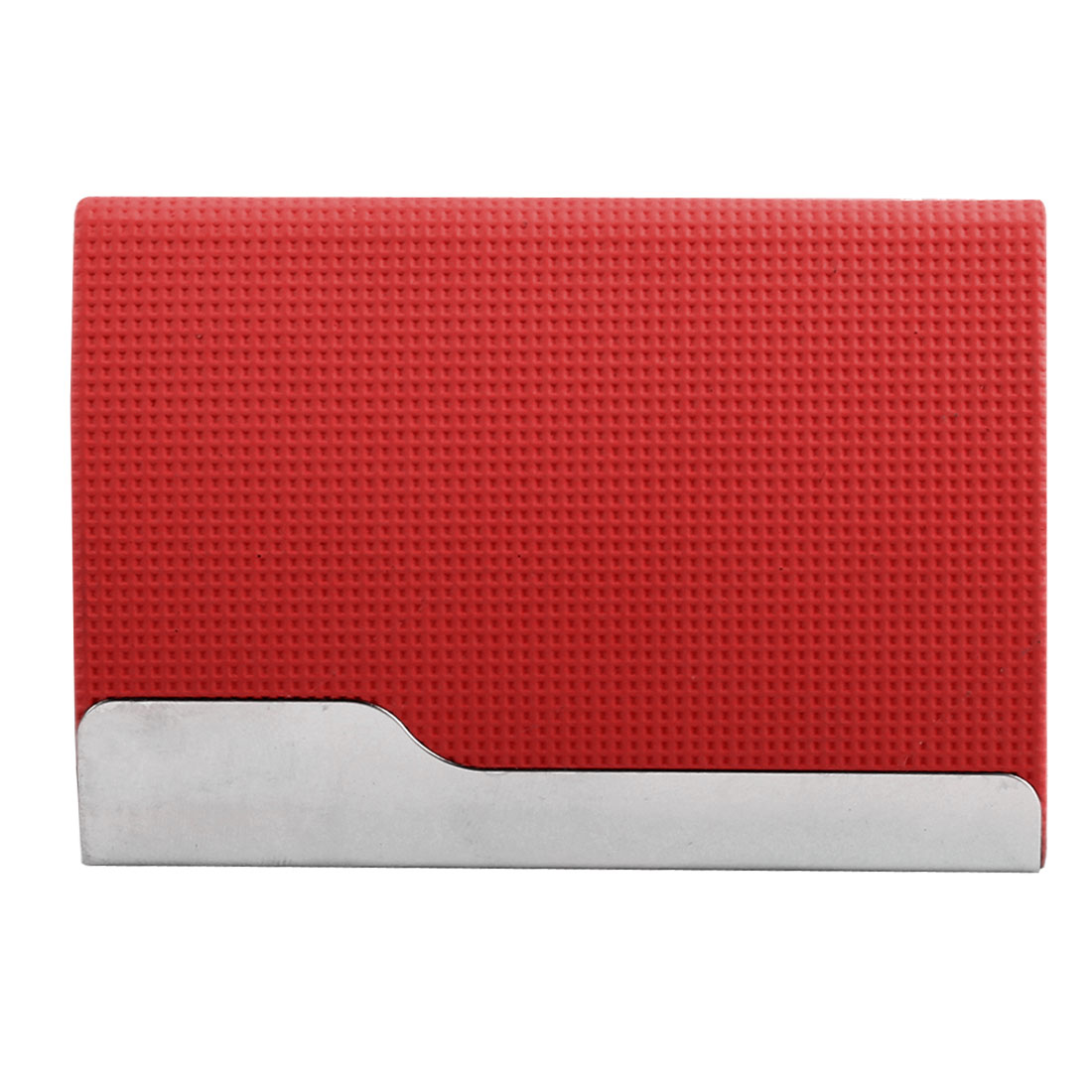 Outdoor Magnetic Shut Business Name Credit ID Card Case Box Holder Container Red