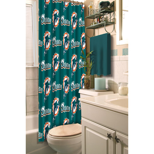 Miami Dolphins Decorative Bath Collection - Shower Curtain