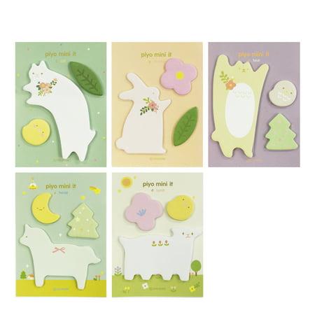 Sticky Notes Set - Wrapables® Elegant Animals Memo Sticky Notes (Set of 5)