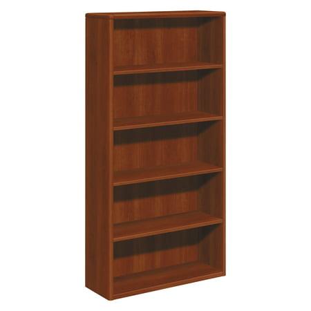Hon 10700 Series Wood Bookcase  Five Shelf  36W X 13 1 8D X 71H  Cognac