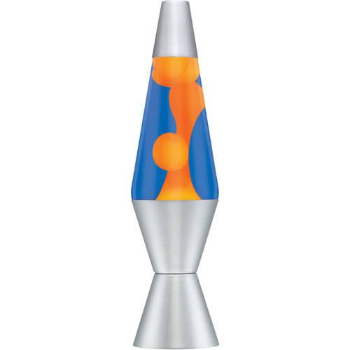 2117 14 5 Quot Lava Lamp Orange Wax Blue Liquid Walmart Com