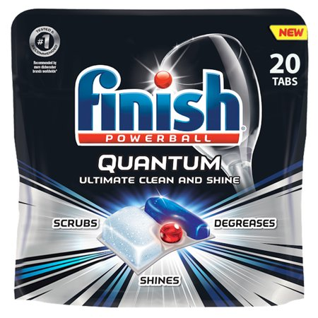 Finish Quantum 20ct, Dishwasher Detergent Tabs, Ultimate Clean & Shine