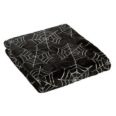 morgan home halloween metallic spider web throw blanket 50 inch x 60 inch