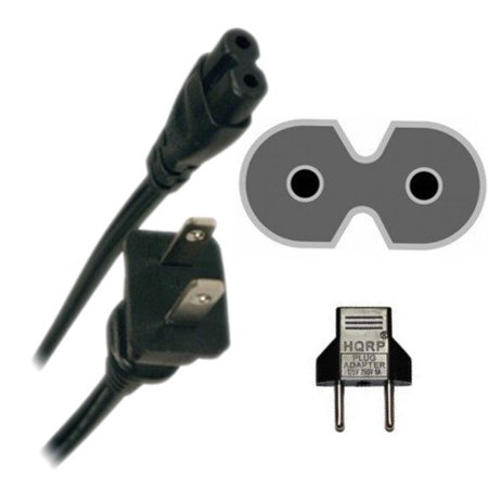 - HQRP AC Power Cord for Panasonic TC-32A400U TC-39A400U TC-39AS530U TC-40A420U TC-40AS520U TC-42AS630U TC-60AS650U TH-42LRU7 LED LCD HDTV Smart TV Mains Cable + HQRP Euro Plug Adapter