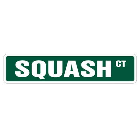 SQUASH Street Sign racquet player ball court lover | Indoor/Outdoor | 18