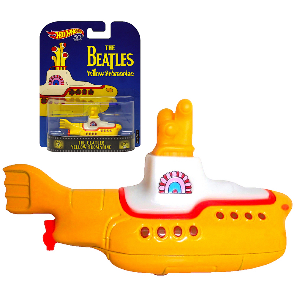 DieCast The Beatles Yellow Submarine Hot Wheel 50th 1:64 Scale
