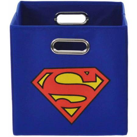 Modern Littles Superman Logo Folding Storage Bin (Superman Chest Plate)