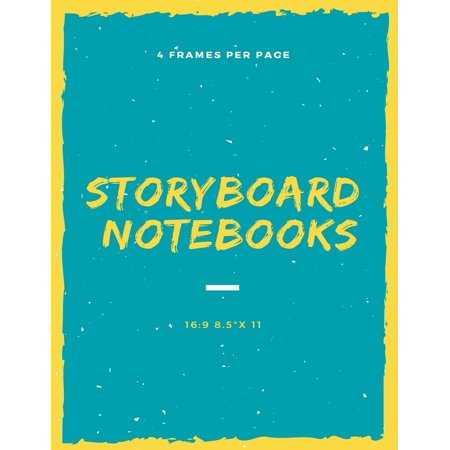 Storyboard 8.5x 11 120 Page,4 Frames Per Page: Storyboarding, Storyboarding Notebook, Storyboard Journal, Film Notebook, Storyboard Paper - 122 Notebook
