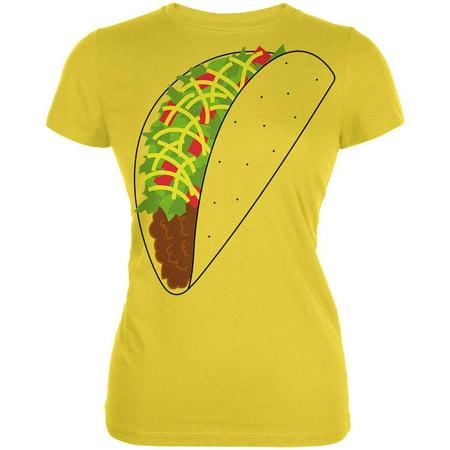 Halloween Taco Food Costume Juniors Soft T Shirt](Diy Taco Costume)