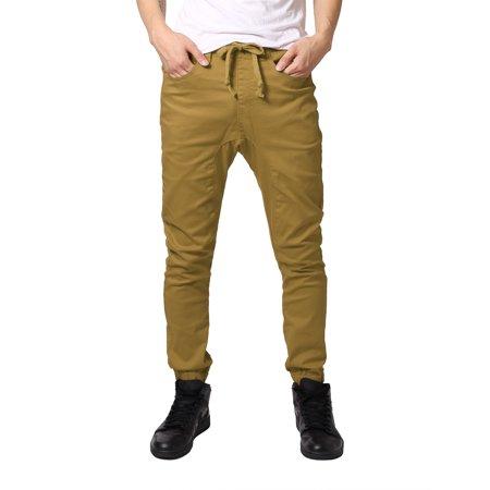 JD Apparel Men's Slim Fit Joggers XL Wheat