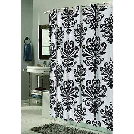 Royal Bath Easy On (No Hooks Needed) Fabric Shower Curtain (70