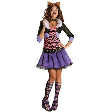Women's Deluxe Clawdeen Wolf Adult Halloween Costume](Monster High Halloween Costumes Clawdeen Wolf)