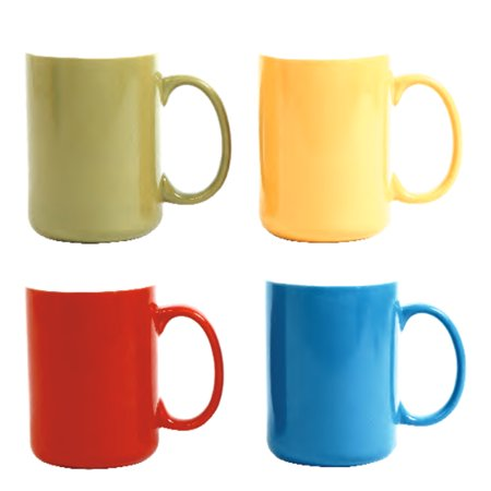 Gibson Color Artistry 17 oz Mugs Set of