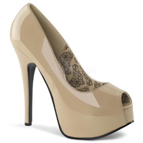 TEEZE-22 Bordello Shoes Teeze Cream Pat Size: 6