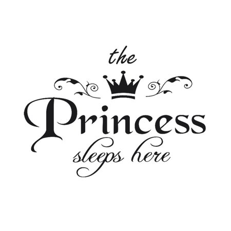 The Princess Letter Wall Stickers Children Living Room Decoration Art Girls Bedroom Wall Decal Wall Stickers