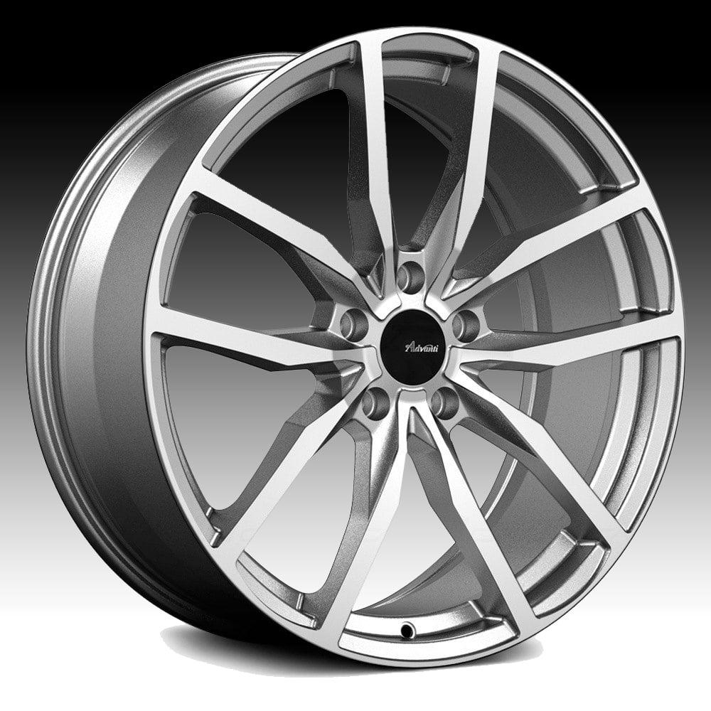 Advanti Racing RA Rasato Machined Grey 19x8.5 5x112 35mm (RA9A51235G)