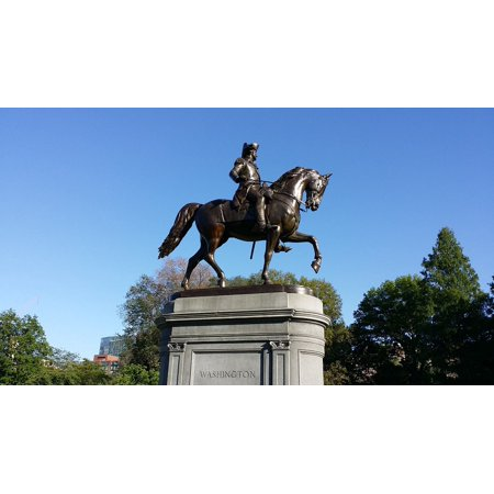 Canvas Print Boston Washington Landmark Statue Common Horse Stretched Canvas 10 x