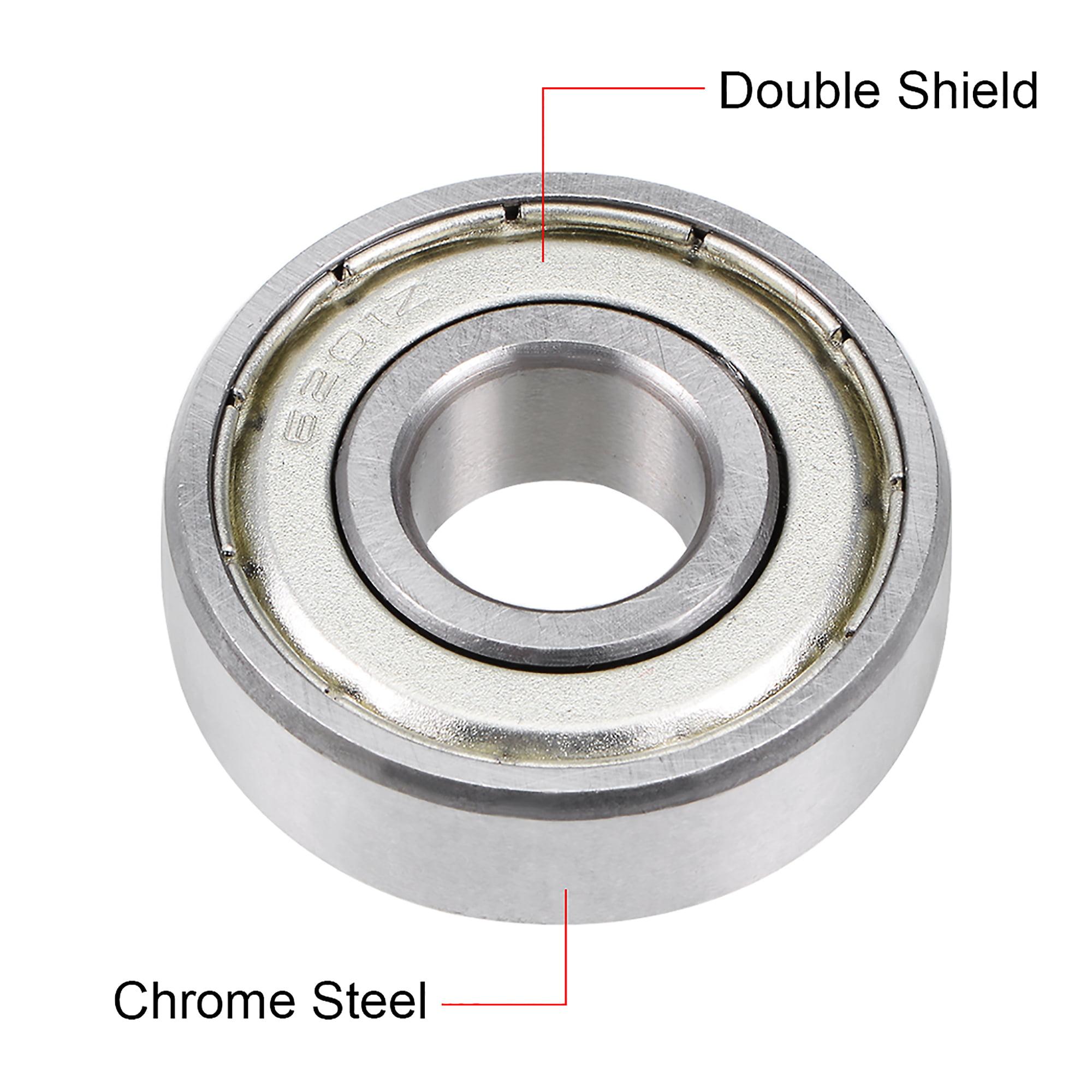 6201ZZ Deep Groove Ball Bearing 12x32x10mm Double Shielded Chrome Bearings 2Pcs - image 1 of 4