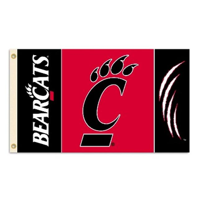 Bsi Products 95140 3 Ft.  X 5 Ft.  Flag W/Grommets - Cincinnati Bearcats