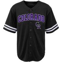 Youth Black Colorado Rockies Team Jersey