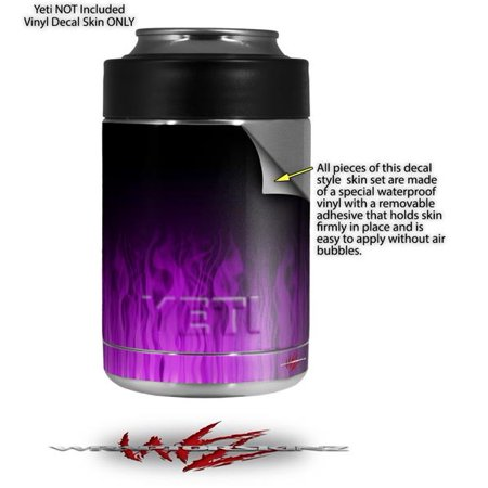 069dfceff33 Skin Decal Wrap for Yeti Colster, Ozark Trail and RTIC Can Coolers - Fire  Purple (COOLER NOT INCLUDED) by WraptorSkinz