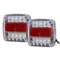 Square license plate LED side light red and white