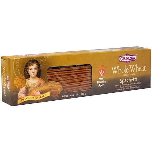 Gia Russa 100% Whole Wheat Spaghetti, 16 oz (Pack of 20)