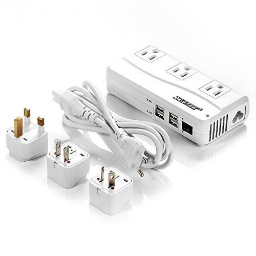 Voltage Converter 220V to 110V Universal Travel Adapter Japanese Design Power Converter for US//UK//EU//AU//IT Worldwide Plug Adapter Power Strip