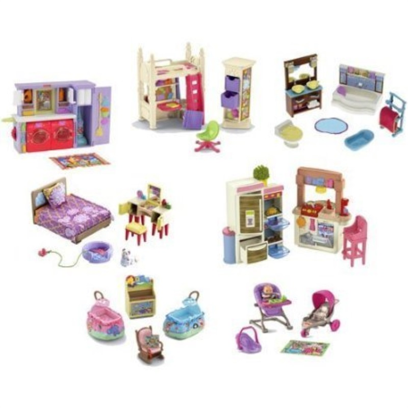 Fisher Price Loving Family Dollhouse Furniture Lot Of 7 Sets
