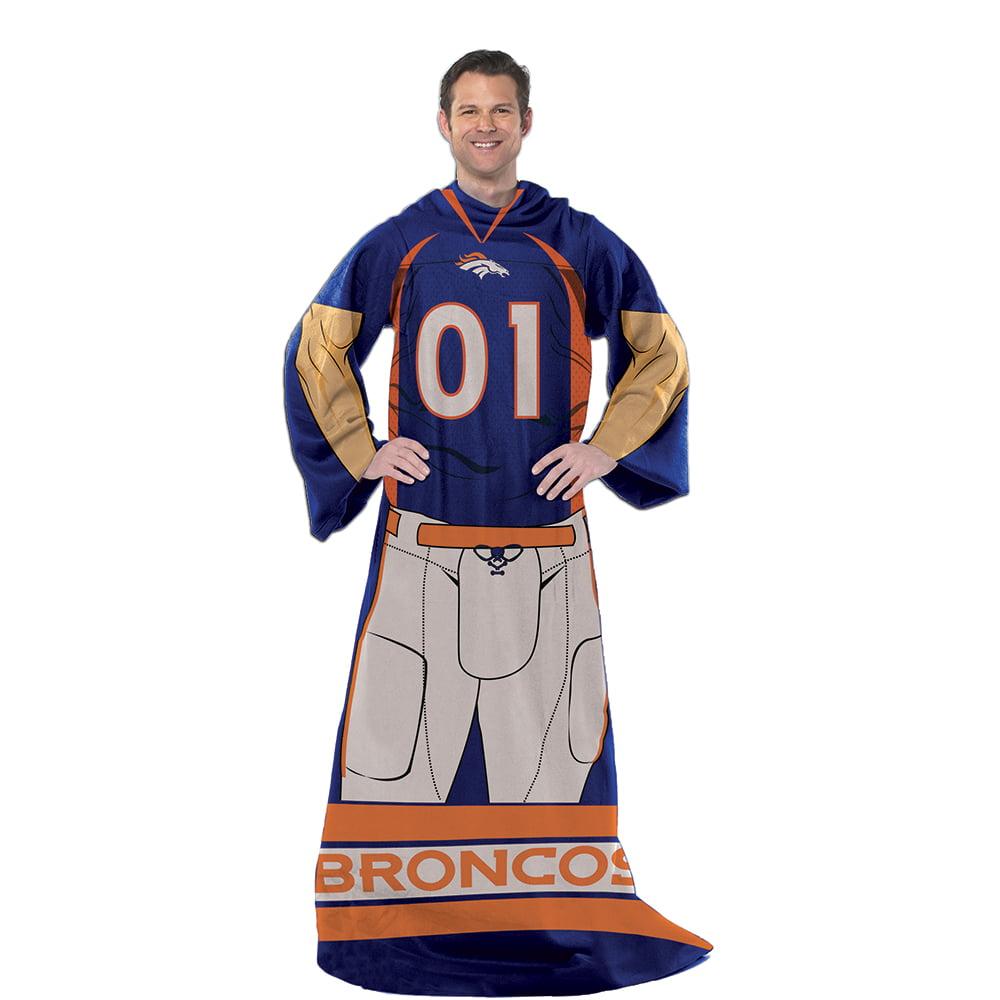 Denver Broncos NFL Uniform Comfy Throw Blanket w/ Sleeves