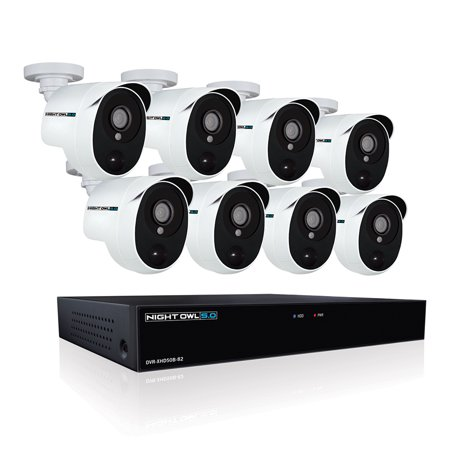 Night Owl 8 Channel 5MP Extreme HD Video Security DVR with 2 TB HDD and 8 x 5MP Wired Infrared Cameras