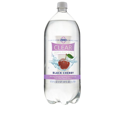 Clear American Black Cherry Sparkling Water, 2 l
