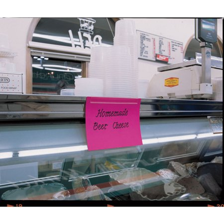 Clear Plastic Adhesive Peel - Adhesive Sign Holder, Clear Plastic Minimum Order Of 6-48 L x 7/8 H