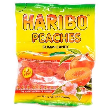 Haribo Gummi Peaches, 5 oz
