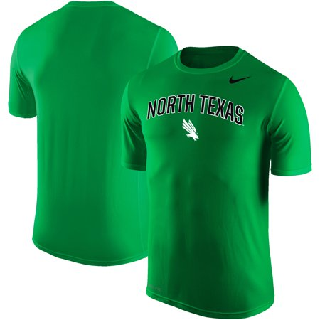 meet 2989f 56a8a North Texas Mean Green Nike Arch Over Logo Performance T-Shirt - Kelly Green