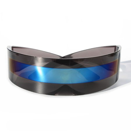 Futuristic Robocop Cyclops Outter Space Robot Shield Sunglasses (Cyclops Sun Glasses)