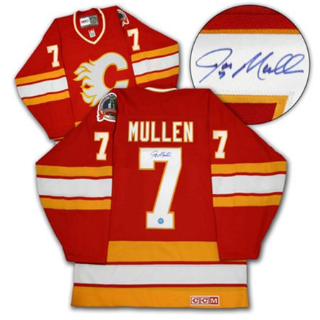 AJ Sports World MULJ132000 JOE MULLEN Calgary Flames SIGNED 1989-Cup JERSEY by