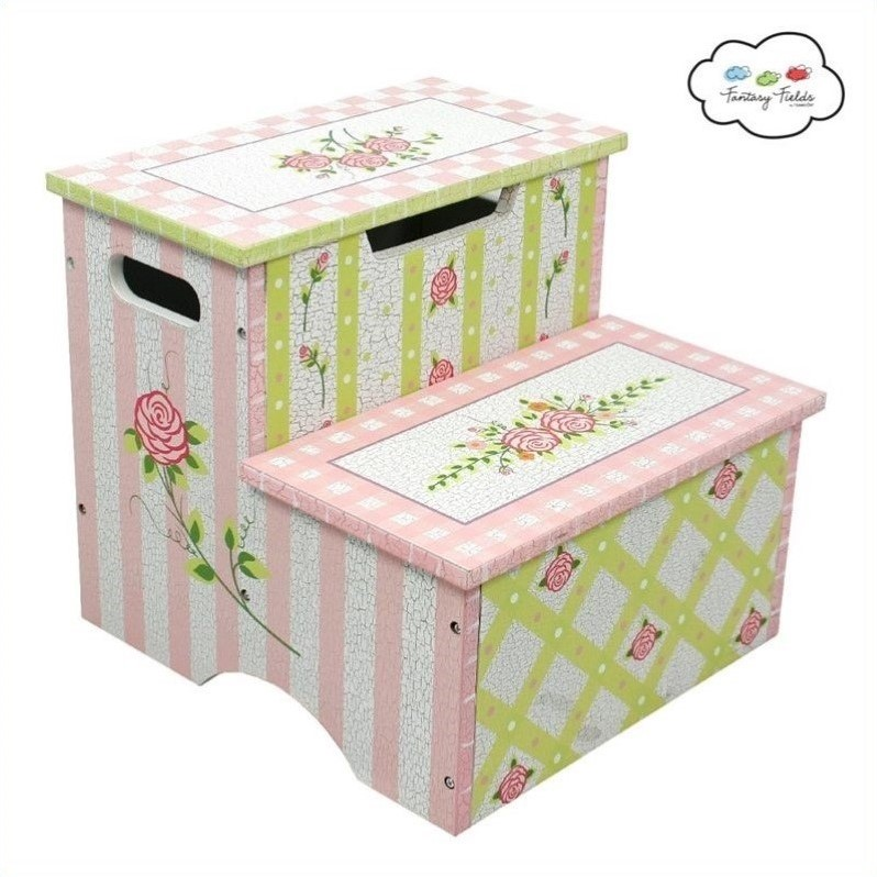 Fantasy Fields Crackled Rose Step Stool