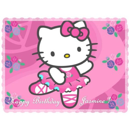 Hello Kitty 2 Edible Cake Toppers Edible Image Cake Toppers Frosting Sheets - Walmart Hello Kitty Cake