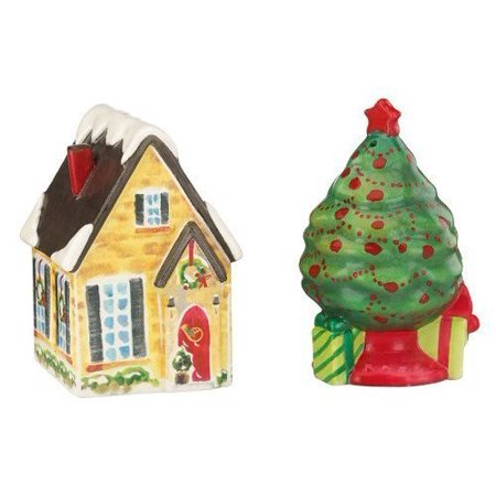Holiday Inspirations & Illustrations House and Tree Salt & Pepper Set by Lenox by