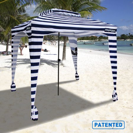 Easygo Cabana 6 X Beach Umbrella Sports Lightweight And Portable With Uv 50 Protection Sets Up Like W Carrying Bag